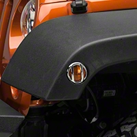 Barricade Side Marker Guard - Chrome (07-16 Wrangler JK) - Barricade J100766