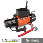 Barricade 12000LB Winch w/Synthetic Rope (87-15 Wrangler YJ, TJ & JK) - Barricade J100790