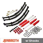 Mammoth 4 in. Extreme Duty Lift Kit w/ Shocks (87-95 Wrangler YJ) - Mammoth J100850
