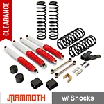 Mammoth 3.5 in. Extreme Duty Lift Kit w/ Shocks (07-14 Wrangler JK 4 Door) - Mammoth J100854