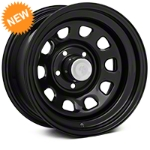 Mammoth D Window Black Steel Wheel 15x8 (87-06 Wrangler YJ & TJ) - Mammoth J100950