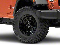 Mammoth D Window Black Steel Wheel 17x9 (07-16 Wrangler JK)