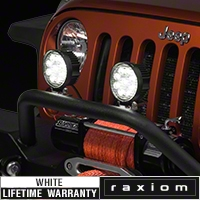 Raxiom 4.5 in. Round 9 LED Light (87-14 Wrangler YJ, TJ & JK) - Raxiom J100993