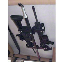 Quick-Draw Overhead Gun Rack for Tactical Weapons (87-14 Wrangler YJ, TJ & JK) - XT Exterior QD857T-OGR-JEEP