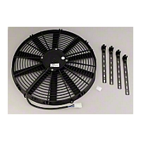 Be Cool 16 In. Electric Pusher Fan for Black plastic (Universal Application) - Be Cool 75059