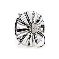 Be Cool 16 In. Electric Pusher Fan for Chrome plastic (Universal Application) - Be Cool 75034