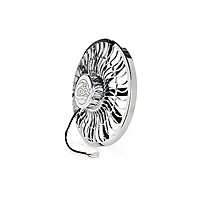 Be Cool 16 In. Electric Pusher Fan for Polished aluminum (Universal Application) - Be Cool 75050