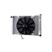 Be Cool 16 In. Electric Pusher Fan Mounts on the outside of the radiator (Universal Application) - Be Cool 75002