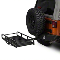 Hitch Mounted Cargo Rack 7 in. XL (87-15 Wrangler YJ, TJ & JK) - XT Exterior J101201