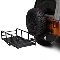 Hitch Mounted Cargo Rack 12 in. XL (87-15 Wrangler YJ, TJ & JK) - XT Exterior J101202