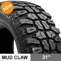 Mudclaw M/T 31X10.50R15LT (87-14 Wrangler YJ, TJ, & JK) - Mudclaw CLW44