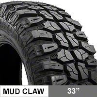 Mudclaw M/T 33X12.50R15LT (87-16 Wrangler YJ, TJ, & JK) - Mudclaw CLW33