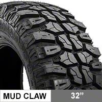 Mudclaw M/T LT265/70R17 (87-15 Wrangler YJ, TJ, & JK) - Mudclaw CLW92