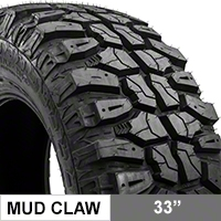 Mudclaw M/T 33X12.50R17LT (87-16 Wrangler YJ, TJ, & JK) - Mudclaw CLW93