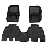 Weathertech DigitalFit Front and Rear Floorliners - Black (14-15 Wrangler JK 4 Door) - Weathertech 44573-1-2