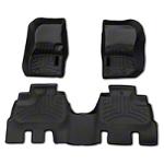 Weathertech DigitalFit Front and Rear Floorliners - Black (14-16 Wrangler JK 4 Door) - Weathertech 44573-1-2