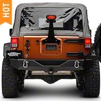 Barricade Adjustable Brake Light Bracket w/ LED Light (87-16 Wrangler YJ, TJ, & JK) - Barricade J101535