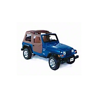 Bestop 2 pc Soft Doors, Black Denim (97-06 Wrangler TJ) - Bestop 51789-15