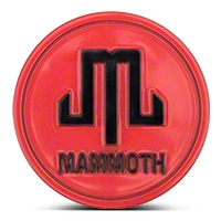 Mammoth Red Center Cap (87-16 Wrangler YJ, TJ & JK) - Mammoth J101796