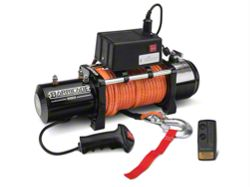 Barricade 9500lb Winch w/ Synthetic Rope & Wireless Control (87-16 Wrangler YJ, TJ, JK)