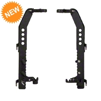 Condition Zero Rifle Door Mounts - Pair (07-15 Wrangler JK Unlimited) - Condition Zero JK-DOOR-PAIR-BLK1