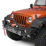 JCR Off Road Vanguard Full Width Front Winch Bumper with Tubework Powder Coated (07-16 Wrangler JK) - JCR Off Road JKFV-T-PC