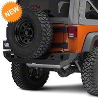 JCR Off Road Crusader Rear Mid Width Bumper Powder Coated (07-15 Wrangler JK) - JCR Off Road JKRC-PC
