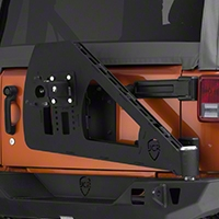 JCR Off Road Shield Rear Tire Carrier Upper Powder Coated (07-15 Wrangler JK) - JCR Off Road JKSC-PC
