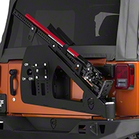 JCR Off Road Shield Tire Carrier Hi-lift Mount Powder Coated (07-15 Wrangler JK) - JCR Off Road JKSHL-PC