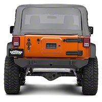 JCR Off Road Dagger Rear Bumper Powder Coated (07-15 Wrangler JK) - JCR Off Road JKRD-PC