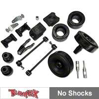 TeraFlex 2.5 in. Performance Budget Boost Kit w/adapters, No Shocks (07-13 Wrangler JK) - Teraflex 1355210
