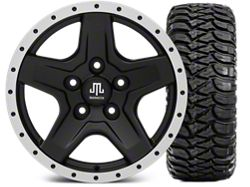 Mammoth Boulder Beadlock Style Black Wheel - 16x8 and Mickey Thompson Baja MTZ 315/75-16 (07-16 Wrangler JK)
