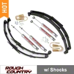 Rough Country 2.5 in. Suspension Lift Kit w/ Shocks (87-95 Wrangler YJ) - Rough Country 615.2