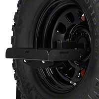 Barricade Spare Tire Jerry Can Holder w/ Short Tray (87-16 Wrangler YJ, TJ & JK) - Barricade JP54-004