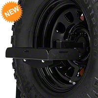 Barricade Spare Tire Jerry Can Holder w/ Short Tray (87-15 Wrangler YJ, TJ & JK) - Barricade JP54-004