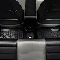 Rugged Ridge Rear Floor Liner 1-Piece, 2nd Row, Black (07-13 Wrangler JK 4 Door) - Rugged Ridge 12950.01