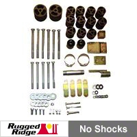 Rugged Ridge 3 in. Body Lift Kit (97-06 Wrangler TJ) - Rugged Ridge 18303.1