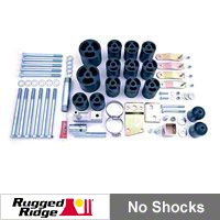 Rugged Ridge 3 in. Body Lift Kit w/3 Piece Brackets  (97-06 Wrangler TJ w/5 or 6spd Transmission) - Rugged Ridge 18303.11