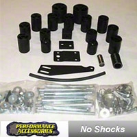 Performance Accessories 3 in. Body Lift Kit (05-06 Wrangler TJ w/6spd transmission) - Performance Accessories 983