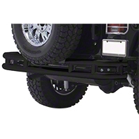 Smittybilt 3 in. Double Tube Rear Bumper w/o Hitch, Gloss Black (87-06 Wrangler YJ & TJ) - Smittybilt JB44-R