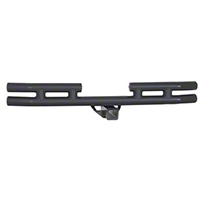 Smittybilt 3 in. Double Tube Rear Bumper w/Hitch (87-06 Wrangler YJ & TJ) - Smittybilt JB44-RHT