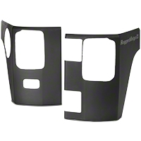 Rugged Ridge Rear Corner Kit, Body Armor, Matte Black, 2-Door (07-16 Wrangler JK 2-Door) - Rugged Ridge 11651.07