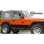 JCR Off Road Crusader Deluxe Sliders (87-95 Wrangler YJ) - JCR Off Road SWBSL-CR-YJ-PC