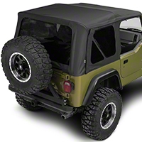 Rampage Complete Soft Top w/ Frame & Hardware - Black Diamond (97-06 Wrangler TJ) - Rampage 68835