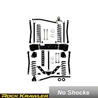 Rock Krawler 3.5 in. Triple Threat Long Arm System (07-13 Wrangler JK 4 Door) - Rock Krawler RKJK35TTLA-4