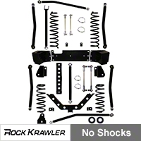 Rock Krawler 3.5 in. X Factor + Long Arm System (07-13 Wrangler JK 2 Door) - Rock Krawler RKJK35XFLA-2