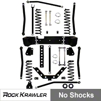 Rock Krawler 3.5 in. X Factor + Long Arm System (07-13 Wrangler JK 4 Door) - Rock Krawler RKJK35XFLA-4