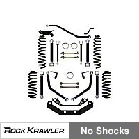 Rock Krawler 3.5in. X-Factor+ Short Arm System (97-02 Wrangler TJ) - Rock Krawler RKTJ35XF+SA