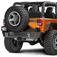 Barricade Extreme HD Rear Bumper w/ Tire Carrier (07-16 Wrangler JK) - Barricade J103688