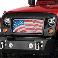 Rugged Ridge Spartan Grille Insert - American Flag (07-16 Wrangler JK) - Rugged Ridge 12034.22